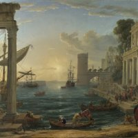 Gelée_Seaport with the Embarkation of the Queen of Sheba