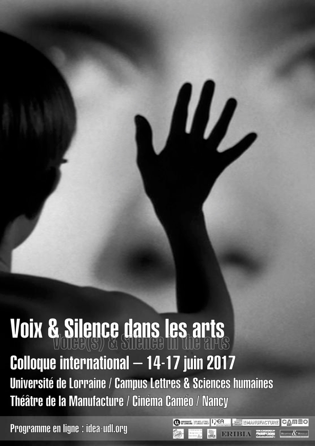 Affiche Colloque Voix & Silence A3 N&B 2017-5-30