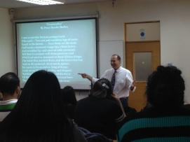 John 's talk at Univ Catholic Silva Henriquez 2